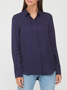 v-by-very-animal-jacquard-shirt-navy