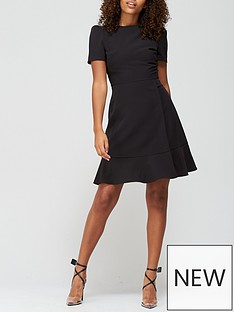 v-by-very-short-sleeve-mini-dress-black