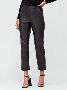 v-by-very-pu-straight-leg-trousers-black