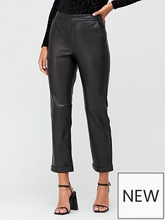 v-by-very-pu-straight-leg-trousers-black