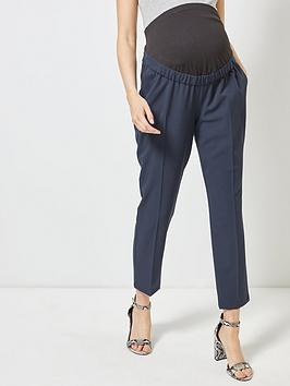dorothy perkins maternity ankle grazer trousers - navy