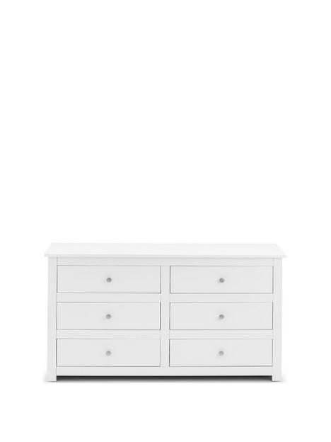 julian-bowen-radley-6-drawer-chest-white