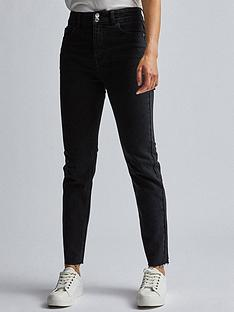 dorothy-perkins-raw-hem-slim-jean-black