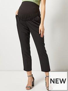dorothy-perkins-maternity-ankle-grazer-trouser-black