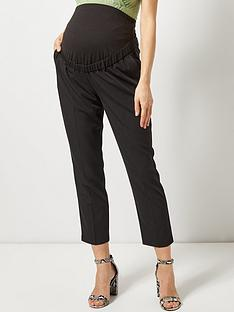 dorothy-perkins-maternity-ankle-grazer-trousers-black