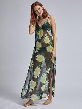 dorothy-perkins-floral-beach-slip-dress-black