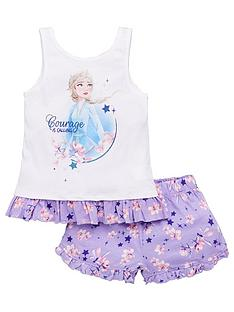disney-frozen-girlsnbspelsa-courage-vest-shorty-pyjamas-white