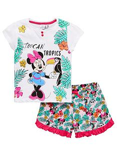 minnie-mouse-girls-toucan-tropics-shorty-pyjamas-white