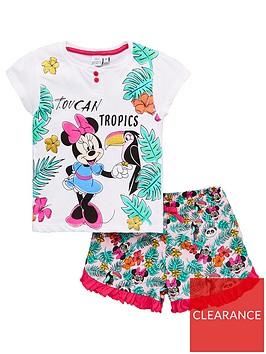minnie-mouse-girls-toucan-tropics-shorty-pyjamas-white