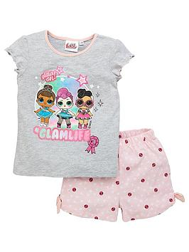 lol-surprise-girlsnbspglam-life-shorty-pyjamas-grey