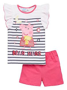 peppa-pig-girlsnbspstripe-bear-hugs-frill-vest-shorty-pyjamas-white