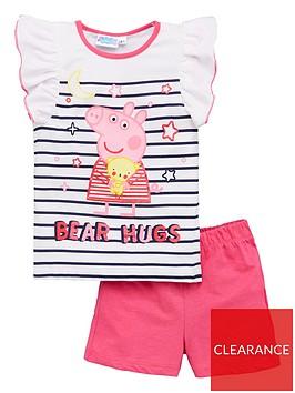 peppa-pig-girlsnbspstripe-bear-hugs-frill-vest-shorty-pyjamas-white
