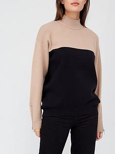 v-by-very-turtle-neck-colour-block-jumper-camel-black
