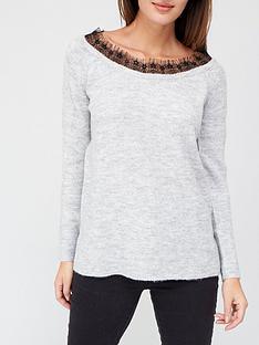 v-by-very-lace-slash-neck-jumper-grey