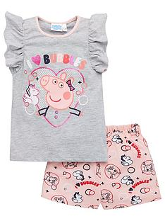 peppa-pig-girlsnbspi-love-bubbles-frill-vest-shorty-pyjamas-grey