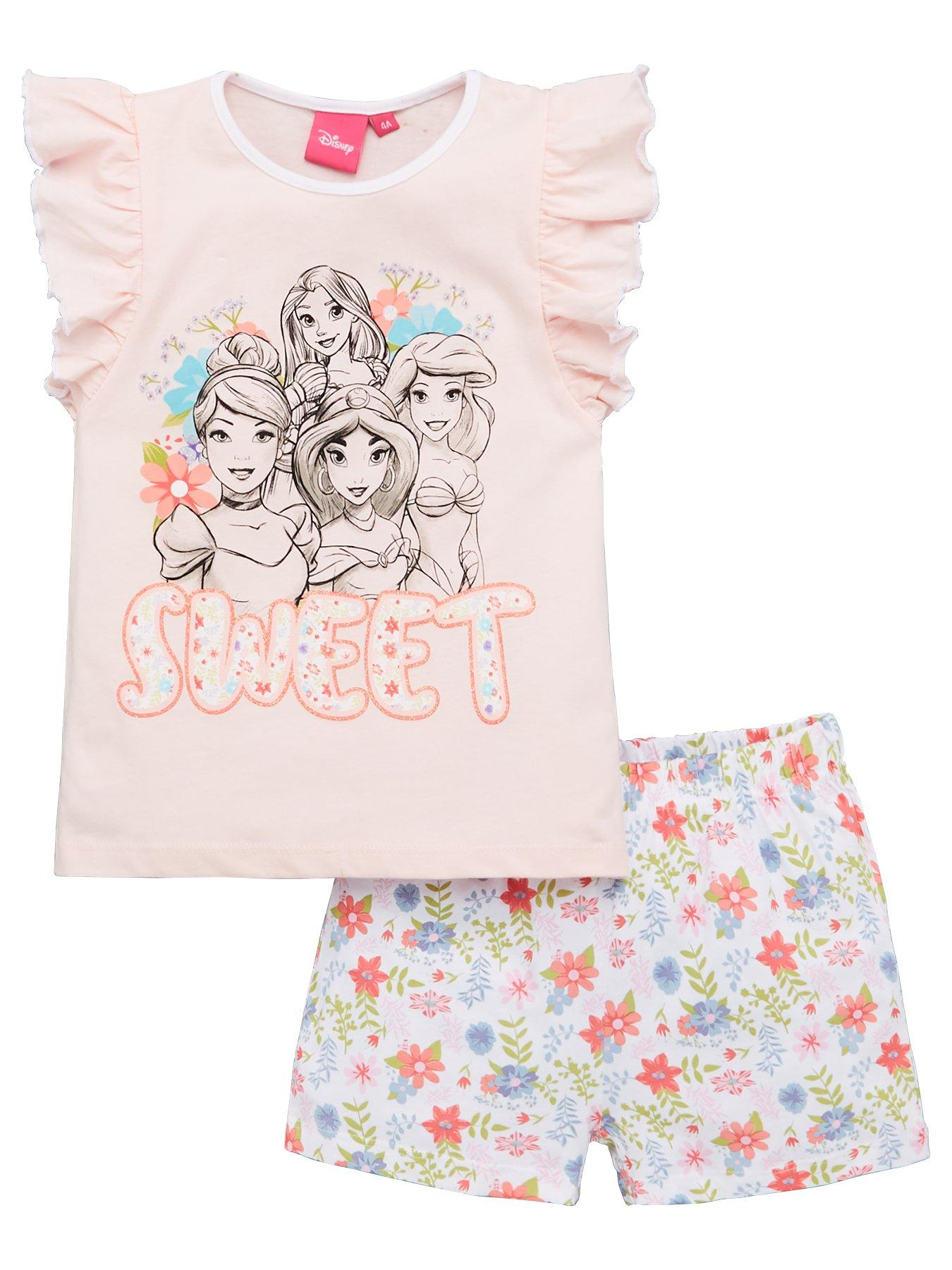 Girls Minnie Mouse Pyjamas Short Summer Pjs for Girls Ages 12 Months to 4 Years