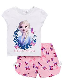 disney-frozen-girls-elsa-spirits-of-nature-shorty-pyjamas-white