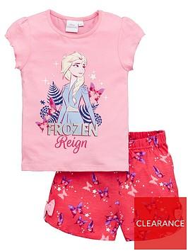 disney-frozen-girlsnbspelsa-reign-shorty-pyjamas-pink
