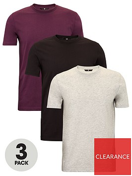 very-man-essentials-3-pack-crew-t-shirt-grey-marlblackwine