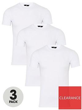 very-man-muscle-fit-slub-t-shirt-3-pack-whitenbsp