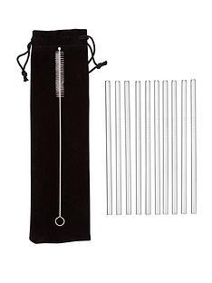 premier-housewares-imo-stainless-steel-straws-ndash-set-of-10