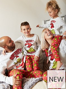 the-grinch-unisex-kids-the-grinch-christmas-family-pj-set-grey