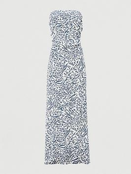 v-by-very-shirred-bandeau-maxi-dress-print
