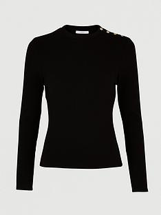 michelle-keegan-button-detail-jersey-top