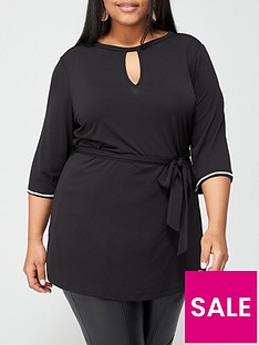 v-by-very-curve-diamante-trim-stretch-belted-tunic-black