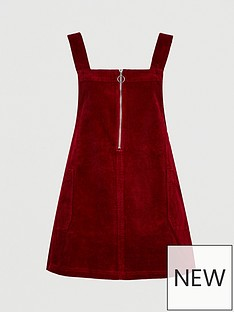 v-by-very-curve-cord-zip-detail-pinafore-dress-burgundy