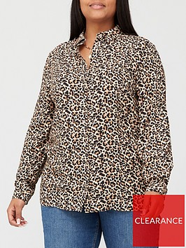 v-by-very-curve-longline-blouse-animal-print