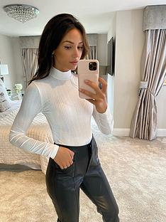 michelle-keegan-turtle-neck-ribbed-bodysuit-cream