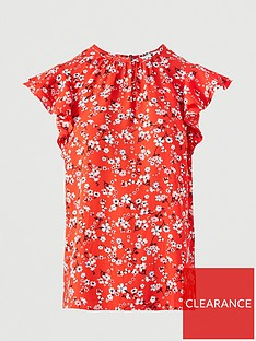 v-by-very-printed-round-neck-short-sleeve-shell-top-red-floral