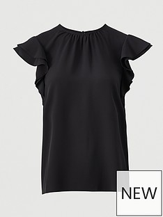 v-by-very-round-neck-short-sleevenbspshell-top-black