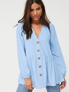v-by-very-longline-button-through-tunic-soft-blue