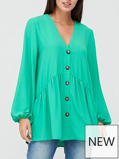 v-by-very-button-through-tunic-green