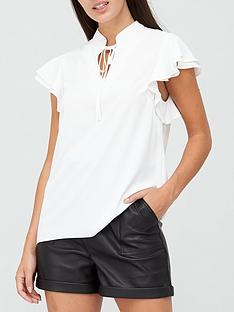 v-by-very-poet-frill-sleeve-blouse-ivory