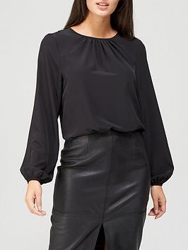 v-by-very-round-neck-long-sleeve-shell-top-black
