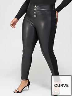 v-by-very-curve-pu-andnbspponte-stretch-button-detail-legging-black