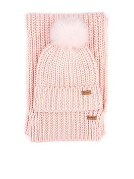 barbour-saltburn-beanie-amp-scarf-set-pink