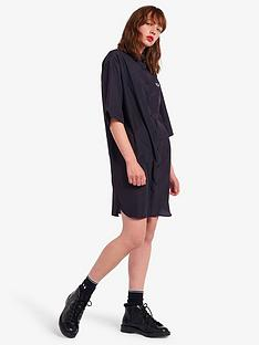 fred-perry-satin-oversized-shirt-dress-navy