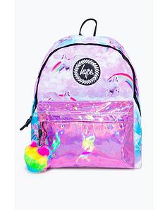 hype-girls-unicorn-holographic-backpack-pink