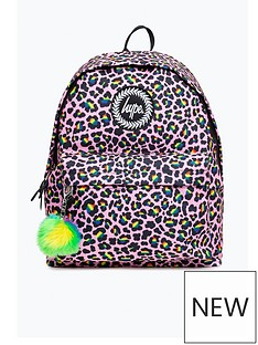 hype-girls-rainbow-leopard-backpack-pink