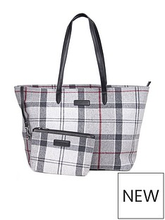 barbour-witford-tartan-tote-bag-grey
