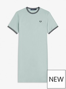 fred-perry-twin-tipped-pique-t-shirt-dress-blue