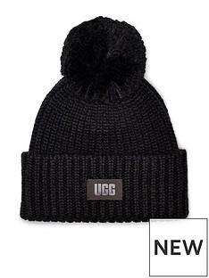 ugg-chunky-rib-knit-beanie-hat-black