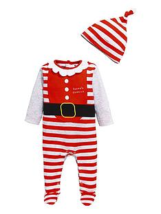 v-by-very-baby-christmas-unisex-sleepsuit-ampnbsphat-set-multi