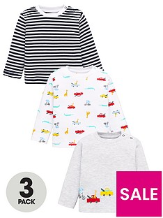 v-by-very-baby-boys-3-pack-transport-and-stripe-tops-multi