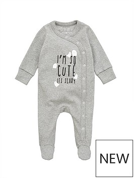 v-by-very-unisex-babynbsphalloween-sleepsuit-grey