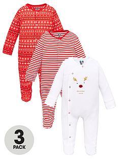v-by-very-unisex-babynbsp3-pack-christmas-sleepsuits-multi